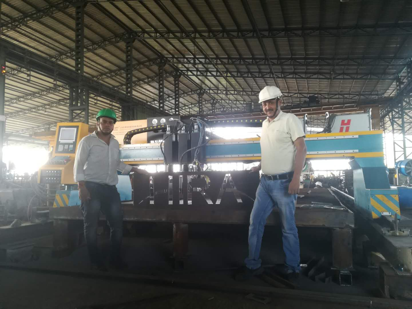 India Heavy Duty Gantry CNC Plasma Flame Cutting Machine For Steel Structure