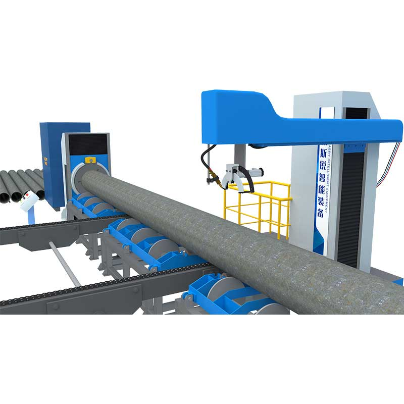 Roller Bed Large Diameter Pipe CNC Cutting Beveling Machine KR-XG